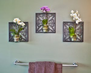 orchid bathroom arrangement